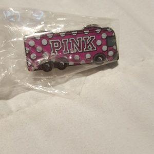 Victoria secret pink bus pin